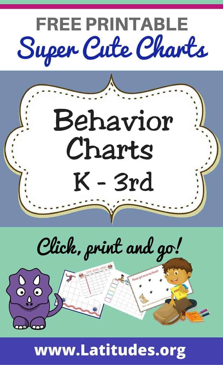 Free Printable Behavior Charts For Teachers & Students (Kindergarten - Free Printable Charts For Classroom