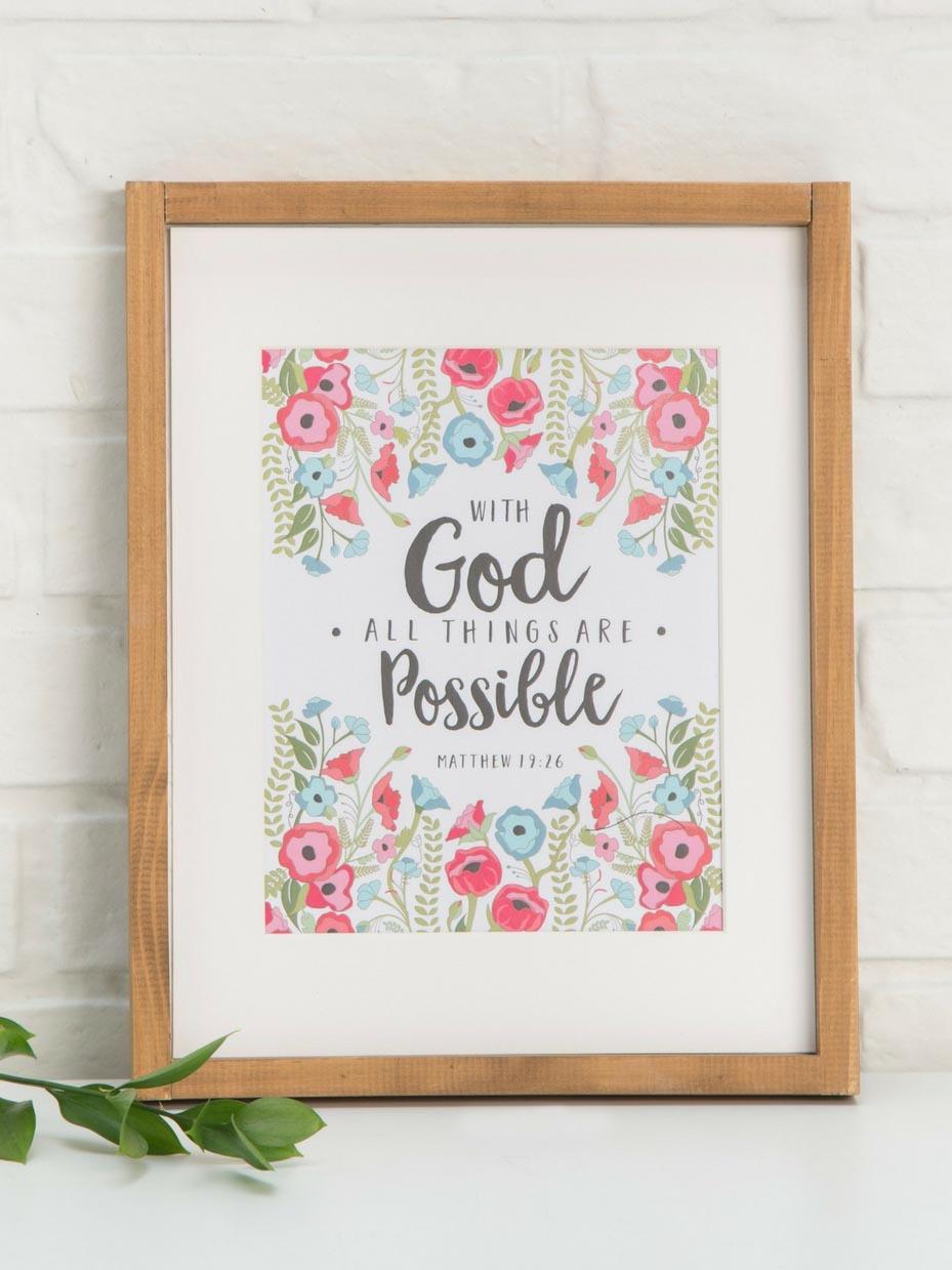 Free Printable Bible Verse Wall Art | Fun365 - Free Printable Inspirational Bible Verses