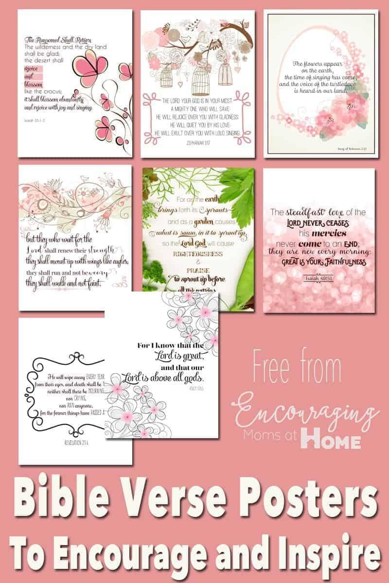 Free Printable Bible Verses To Encourage And Inspire Homeschool Moms - Free Printable Inspirational Bible Verses