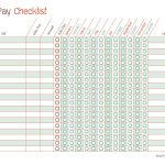 Free Printable Bill Pay Calendar Templates   Free Printable Bill Pay Checklist