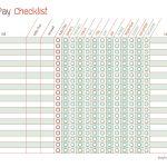 Free Printable Bill Pay Calendar Templates   Free Printable Bill Pay Checklist