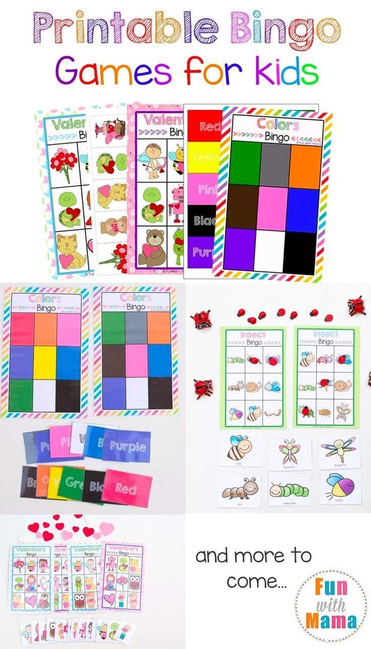 Free Printable Bingo Cards For Kids | Free Printables & Free Fonts - Free Printable Bingo Chips
