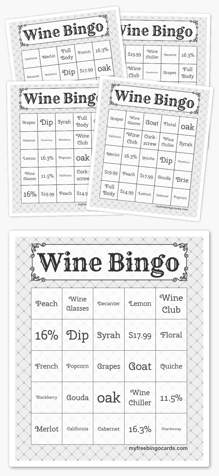 Free Printable Bingo Cards In 2019 | Partaaaay Planning | Free Bingo - Free Printable Bingo Cards