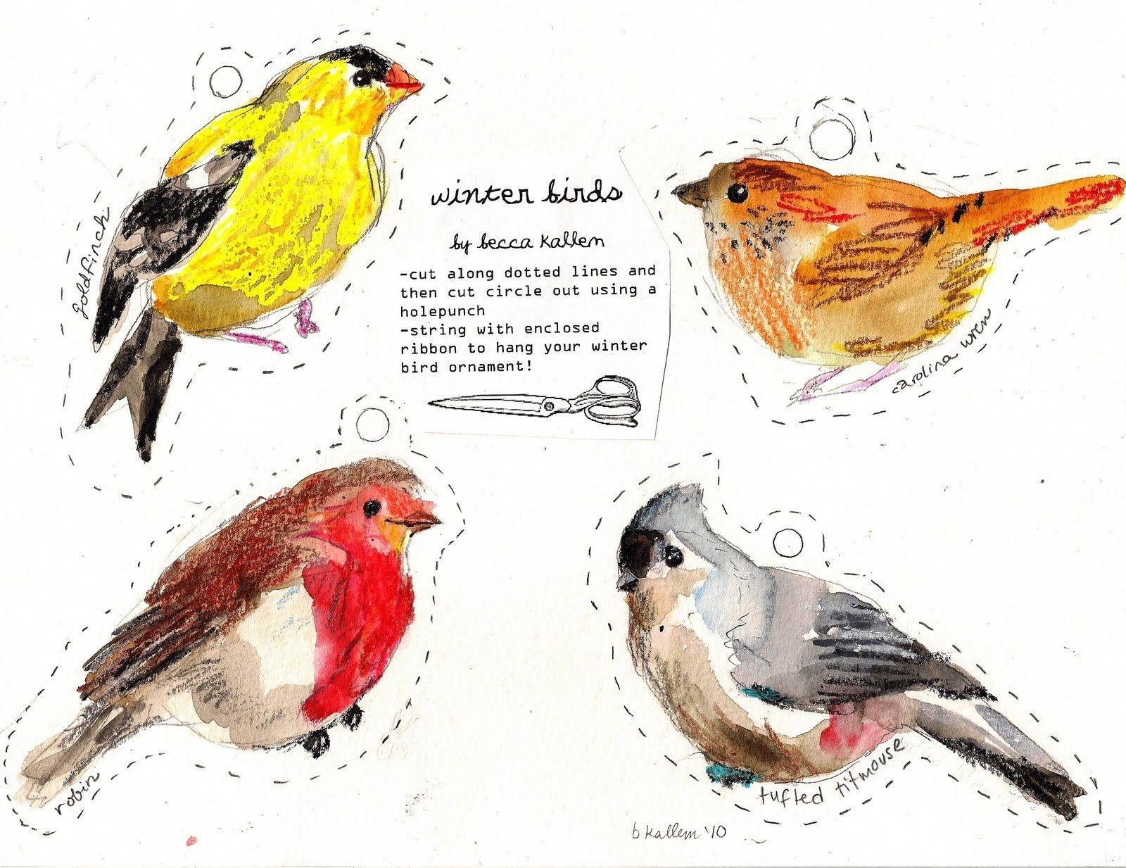 Free Printable Bird Git Tags   Rebecca's Misc.   Free Printables - Free Printable Images Of Birds