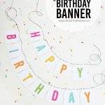 Free Printable Birthday Banner | Parties & Celebrations | Printable   Free Printable Birthday Banner