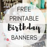Free Printable Birthday Banners   The Girl Creative   Free Printable Birthday Banner