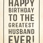 Free Printable Birthday Card   Greatest Husband | Greetings Island   Free Printable Birthday Cards For Husband