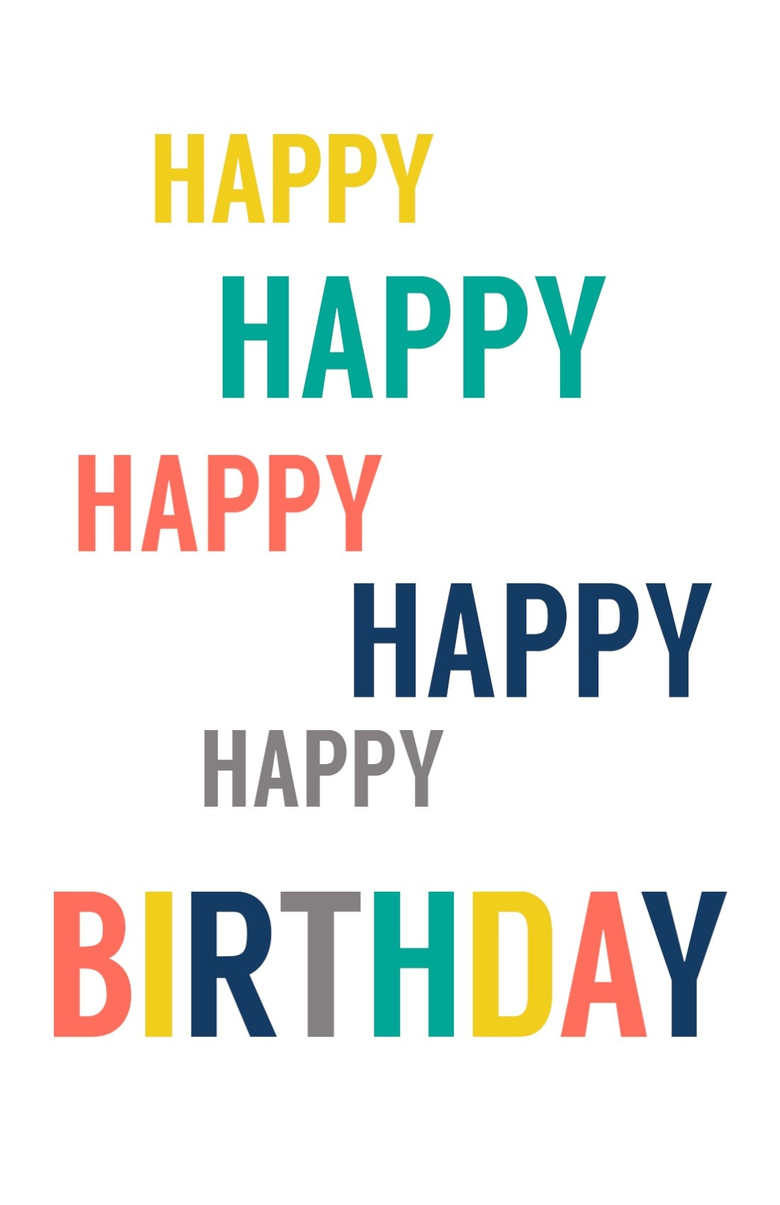 Free Printable Birthday Cards - Paper Trail Design - Free Printable Happy Birthday Cards