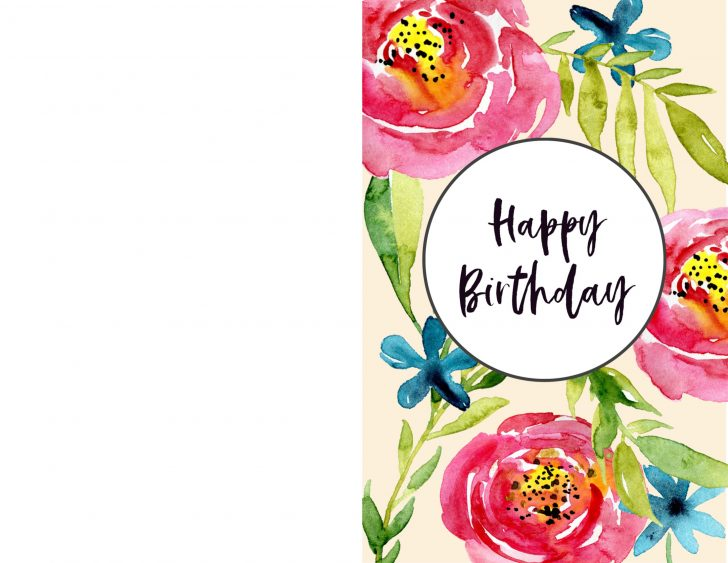 Happy Birthday Free Cards Printable