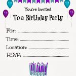 Free Printable Birthday Invitations For Kids #freeprintables   Happy Birthday Invitations Free Printable
