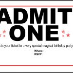 Free Printable Birthday Party Invitations   Kansas Magician | Magic   Free Printable Ticket Invitation Templates