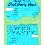 Free Printable Birthday Pool Party Invitations — Birthday Invitation   Free Printable Pool Party Birthday Invitations