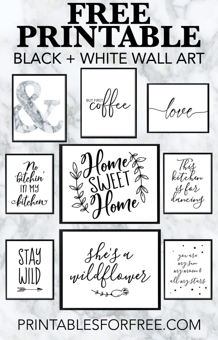Free Printable Wall Art Black And White