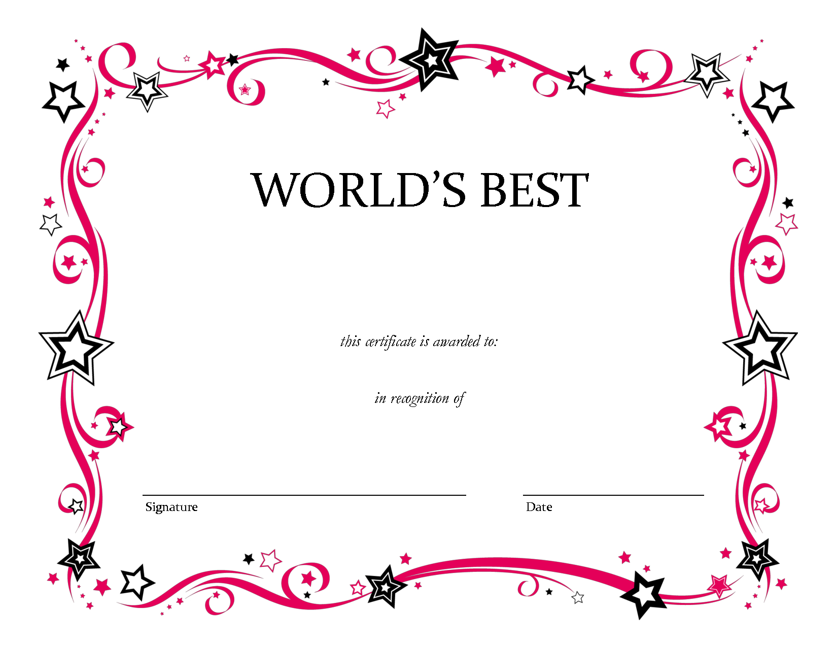 Free Printable Blank Award Certificate Templates Chainimage | Pop - Free Printable Award Certificates