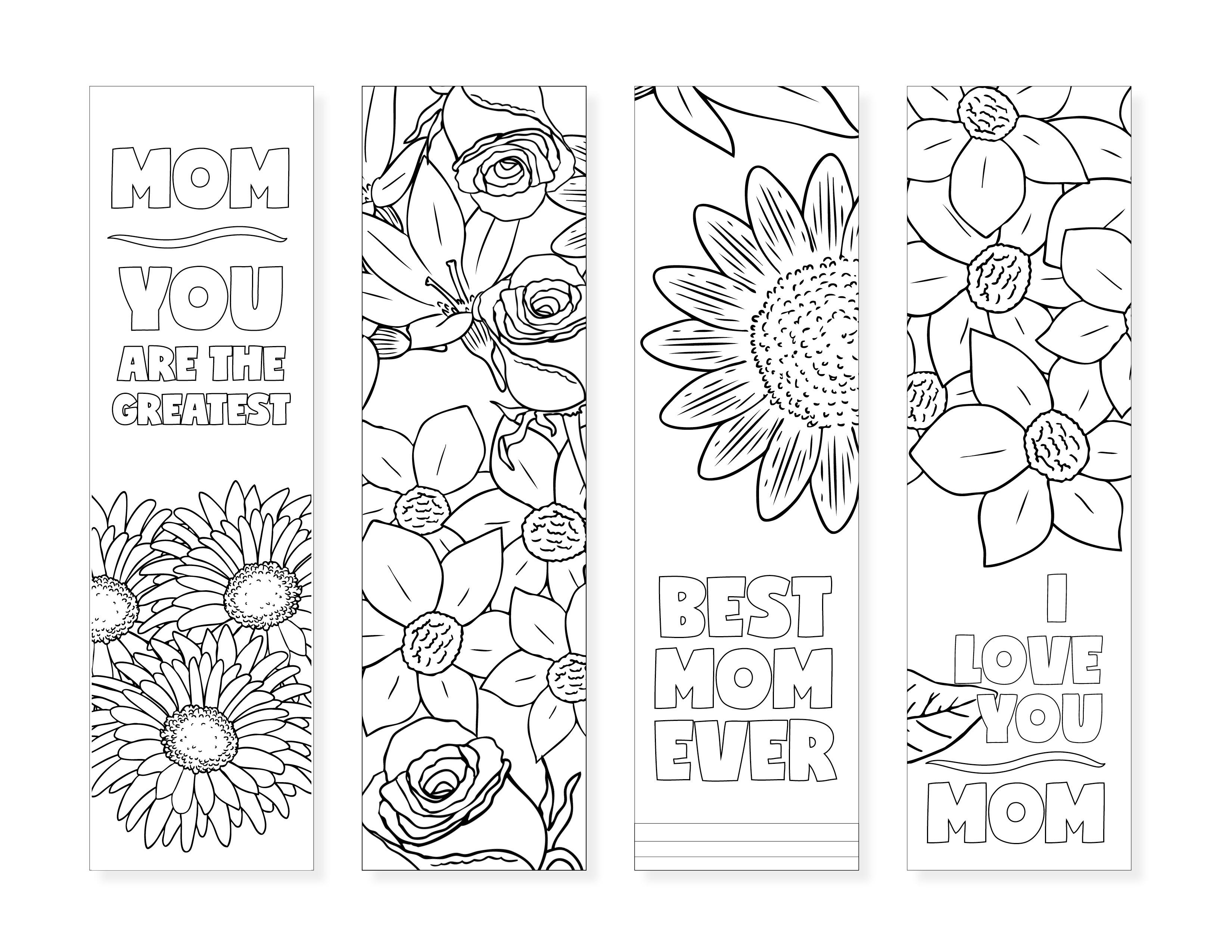Free Printable Bookmarks For Moms - Design Dazzle - Free Printable Bookmarks To Color
