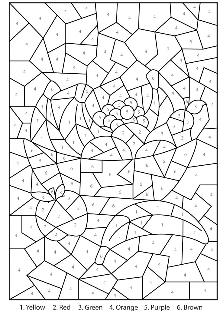 Free Printable Paint By Number Coloring Pages