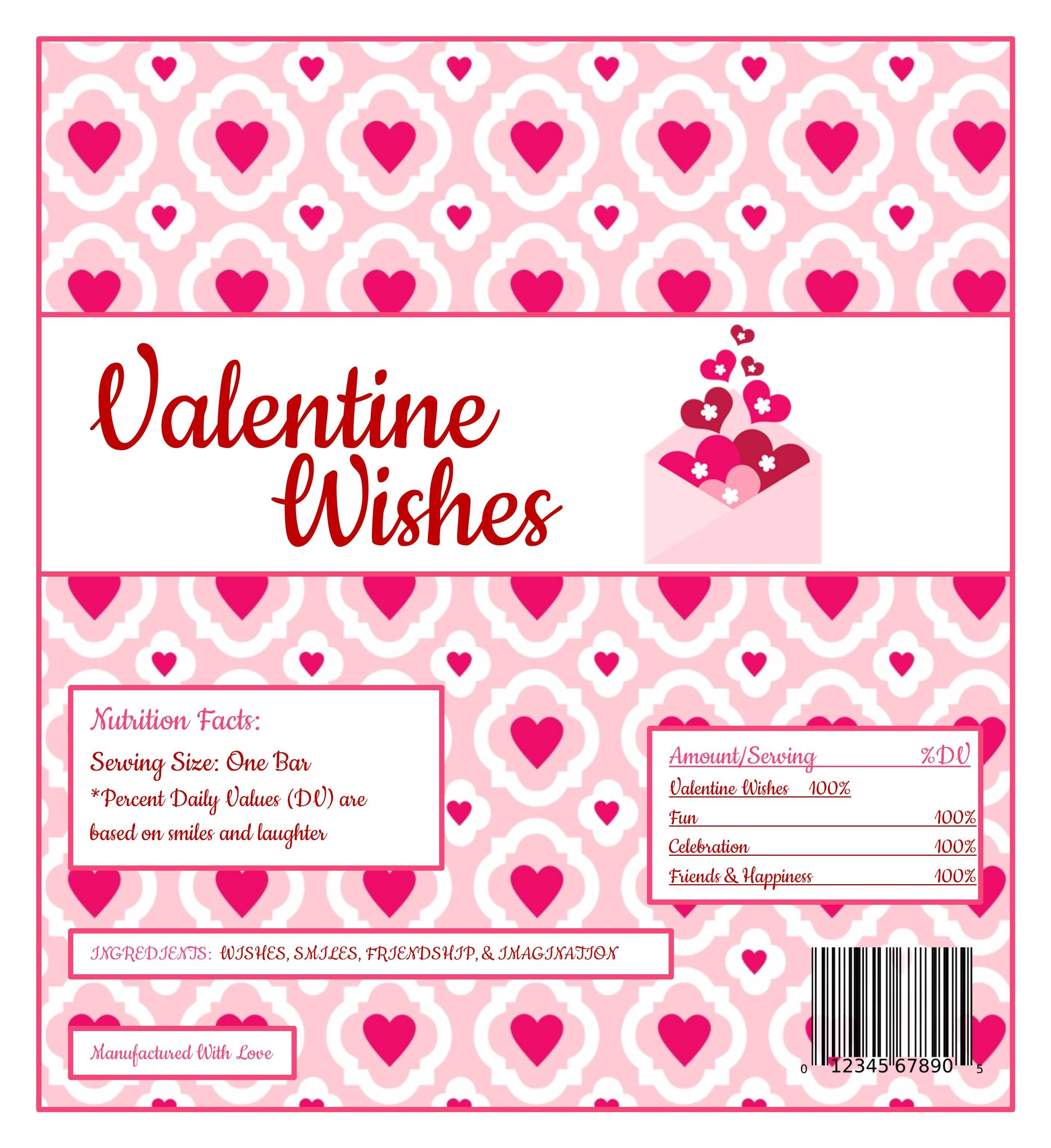Free Printable Candy Wrapper | Valentines Day Parties & Ideas - Free Candy Wrapper Printable