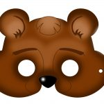 Free Printable Carnival Masks For Kids. | Ideas | Bear Mask, Mask   Free Printable Chipmunk Mask