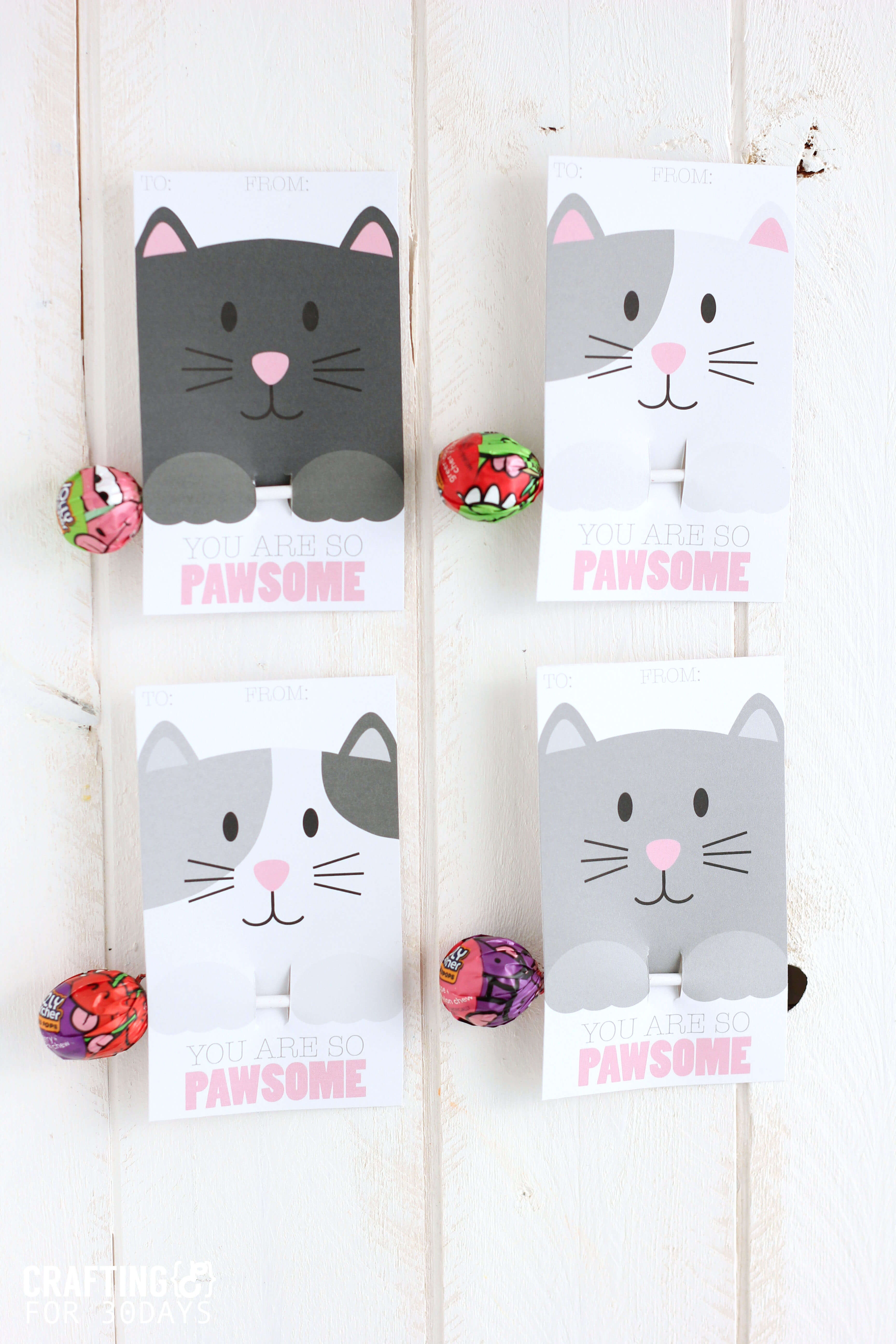 Free Printable Cat Valentine Cards - Free Printable Cat Valentine Cards
