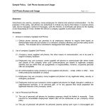 Free Printable Cell Phone Policy Form (Generic) | Sample Printable   Free Printable Legal Documents Forms