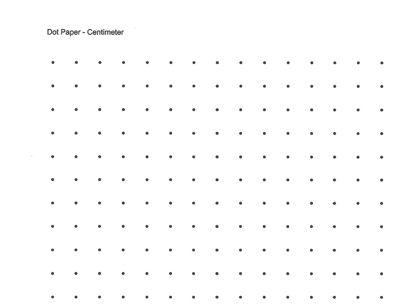 Free Printable Cetameter Dot Grid | Centimeter Dot Graph Paper For - Free Printable Square Dot Paper