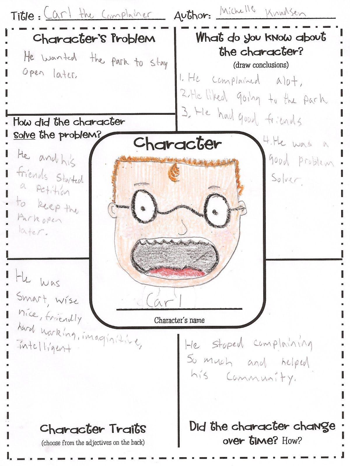 Free Printable Character Map   Intermediate Grade Reading   Teaching - Free Printable Character Map