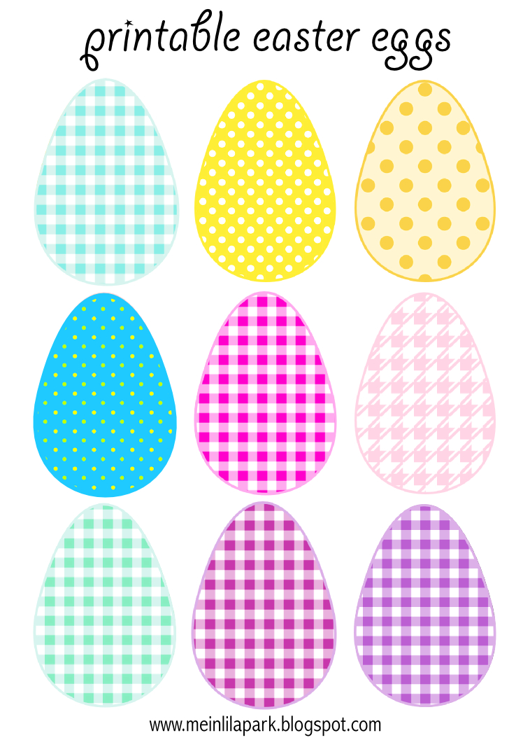 Free Printable Cheerfully Colored Easter Eggs - Ausdruckbare - Free Printable Easter Images