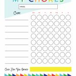 Free Printable   Chore Chart For Kids | Ogt Blogger Friends | Chore   Free Printable Chore Charts