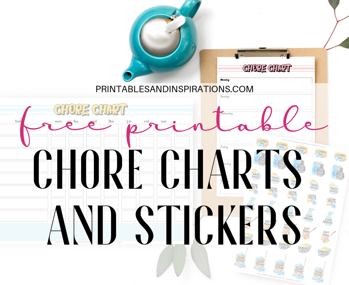 Free Printable Chore Charts And Chore Planner Stickers! - Printables - Chore Stickers Free Printable