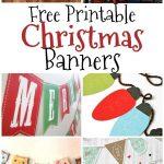 Free Printable Christmas Banners | Banner Letters | Free Christmas   Free Printable Christmas Banner