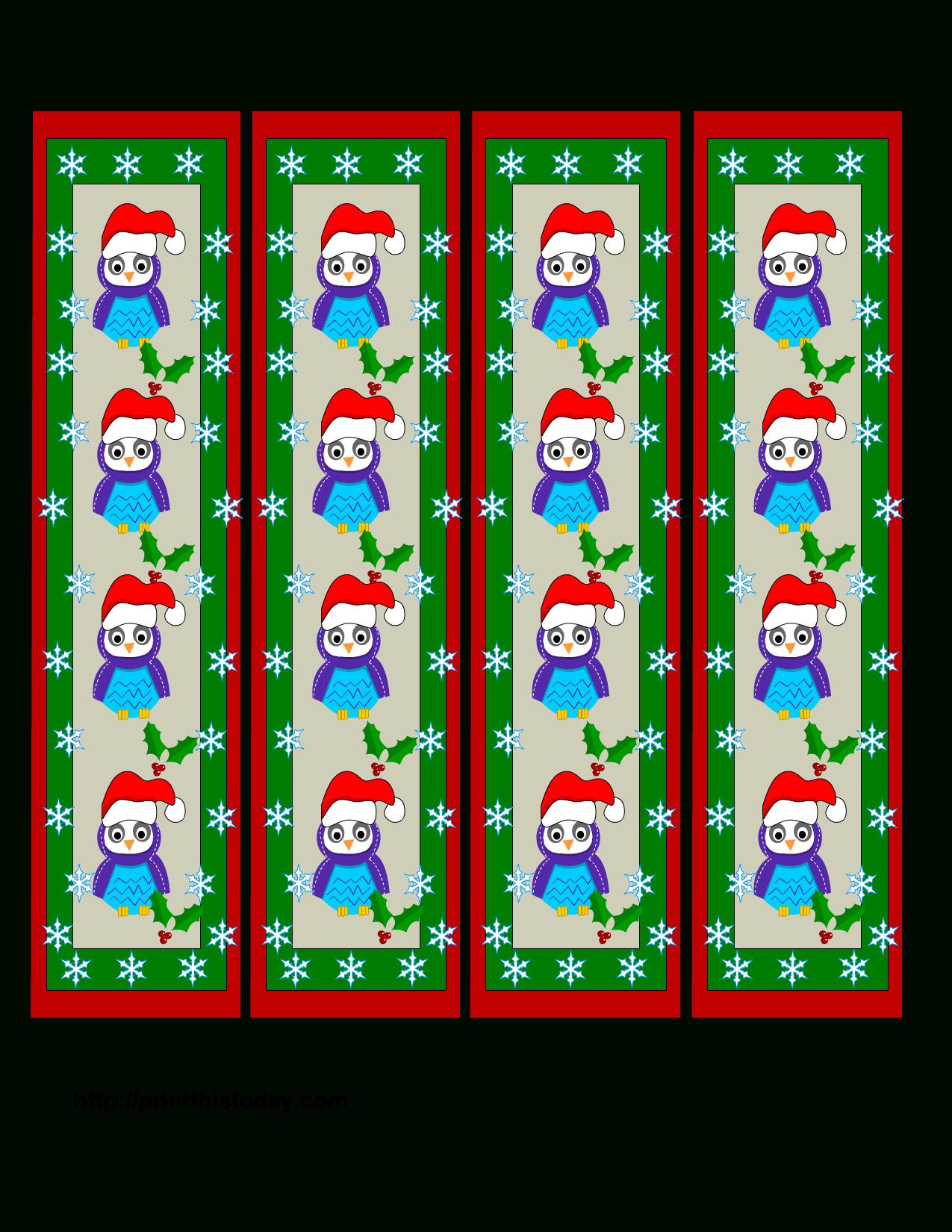 Free Printable Christmas Bookmarks With Owls | Owls For Kaelie - Free Printable Owl Bookmarks