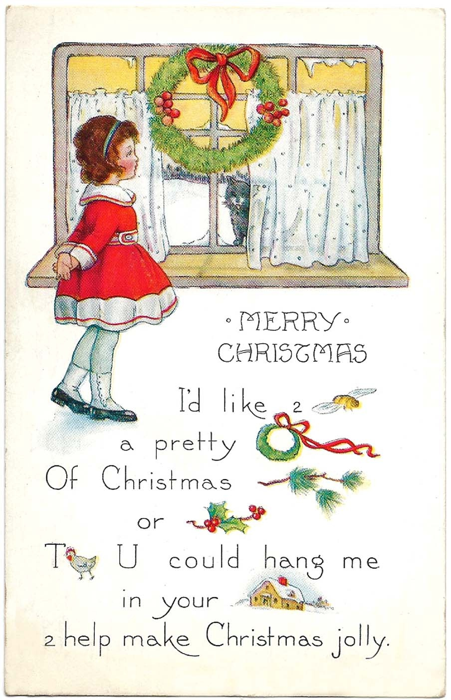 Free Printable Christmas Cards - From Antique Victorian To Modern - Free Hallmark Christmas Cards Printable