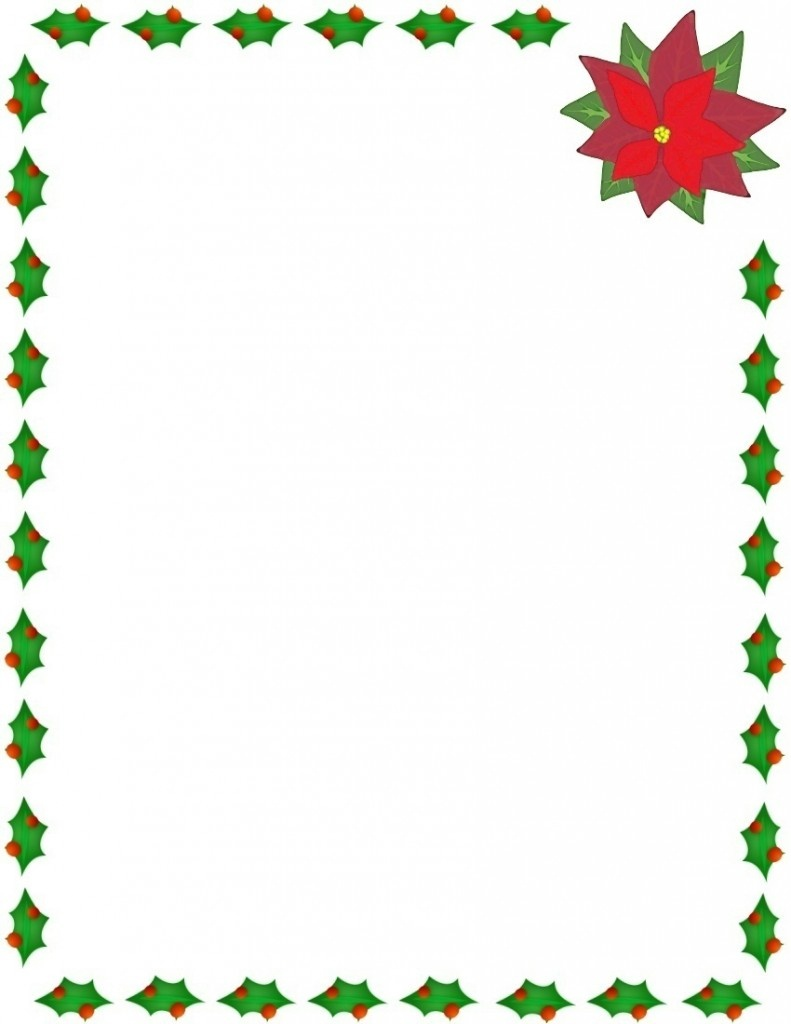 Free Printable Christmas Clipart Borders | Free Download Best Free - Free Printable Christmas Frames And Borders