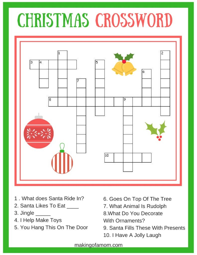 Free Printable Christmas Games - Making Of A Mom - Free Printable Christmas Games And Puzzles