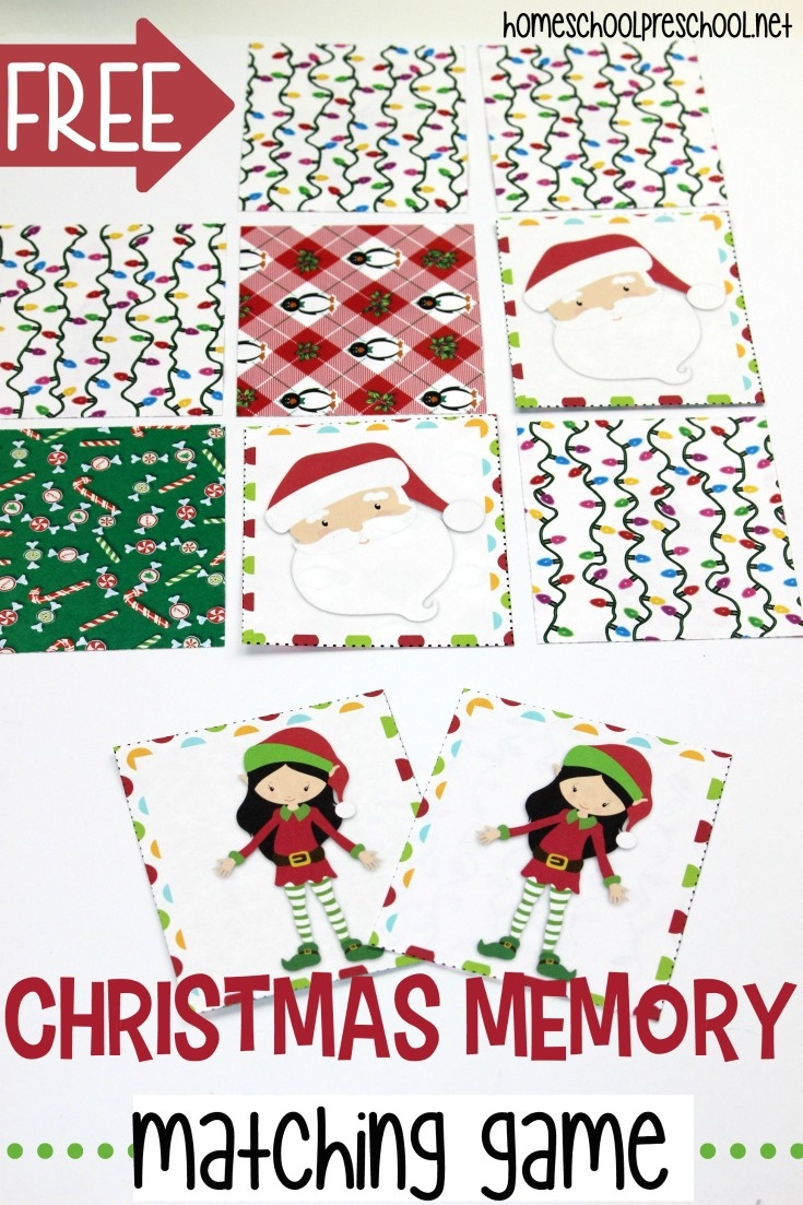 Free Printable Christmas Memory Game For Preschoolers - Free Printable Christmas Games For Preschoolers