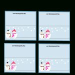 Free Printable Christmas Place Cards   Free Online Printable Christmas Cards