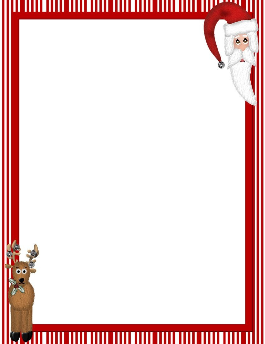 Free Printable Christmas Stationary Borders | Christmasstationery - Free Printable Christmas Frames And Borders