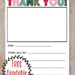 Free Printable Christmas Thank You Note For Kids! | Printables   Free Printable Thank You Notes