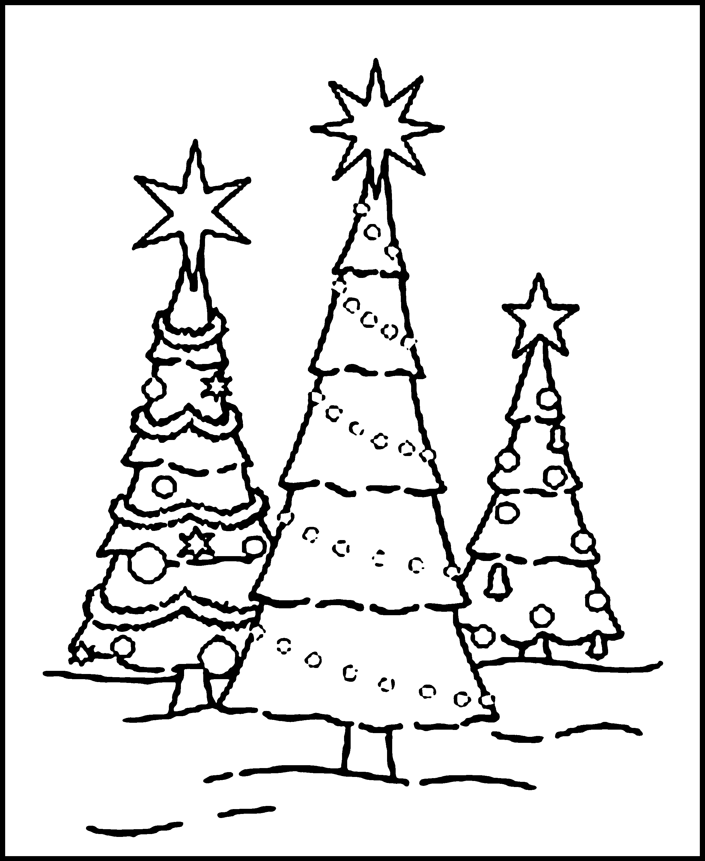 Free Printable Christmas Tree Coloring Pages For Kids - Free Printable Christmas Tree Images