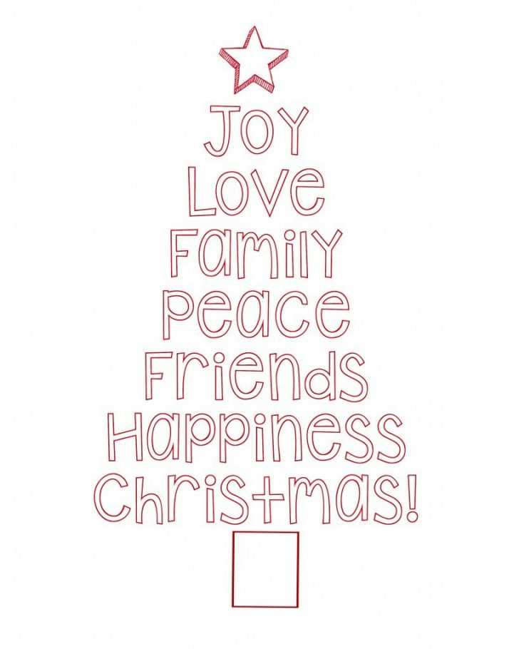 Merry Christmas Stencil Free Printable