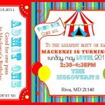 Free Printable Circus Invitation Templates. Please Forgive My Photos   Free Printable Ticket Invitation Templates