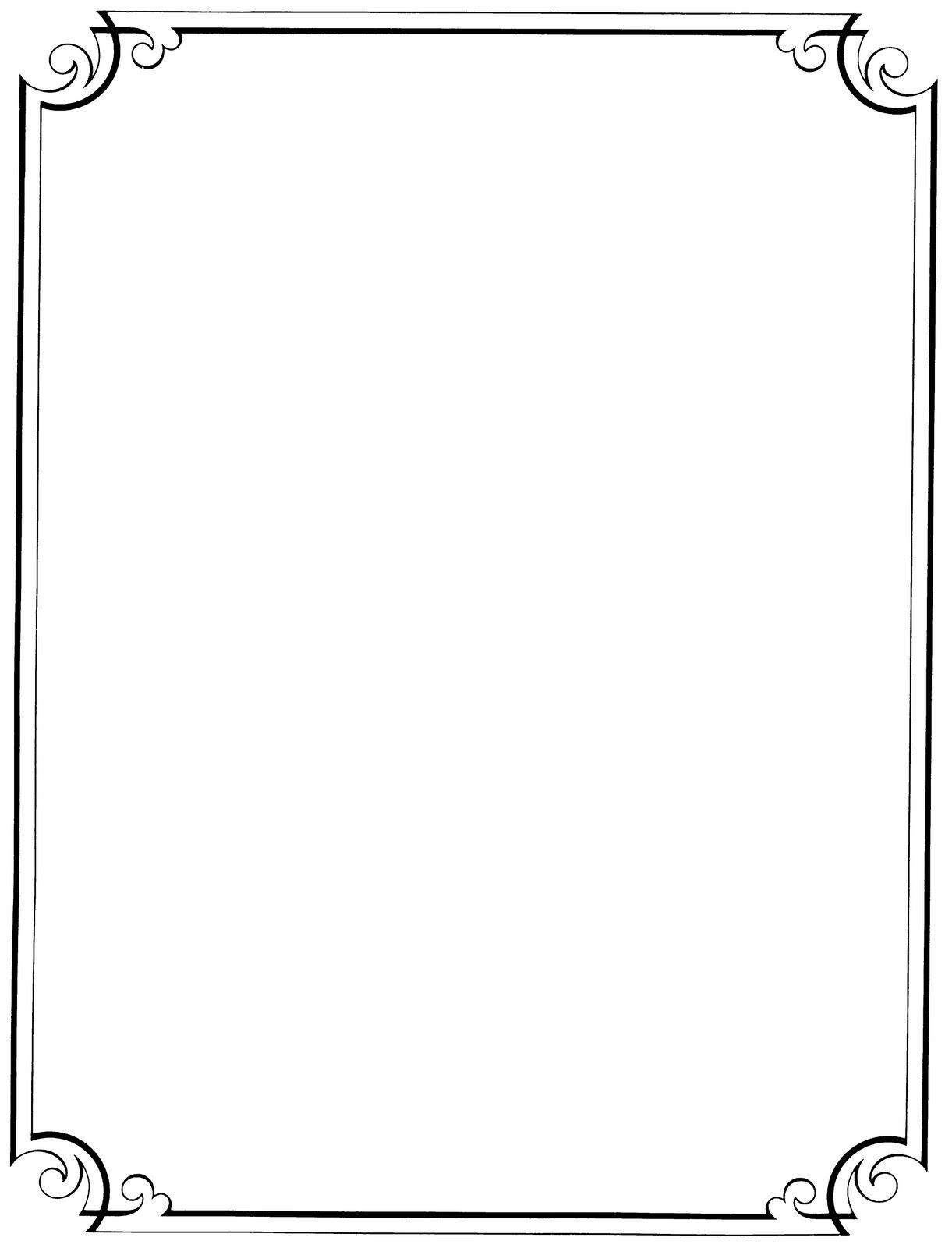 Free Printable Clip Art Borders |  : Free Vintage Clip Art - Free Printable Page Borders