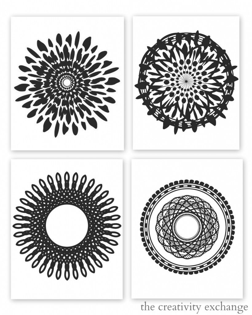 Free Printable Collection Of Modern Black And White Prints | Free - Free Printable Wall Art Black And White