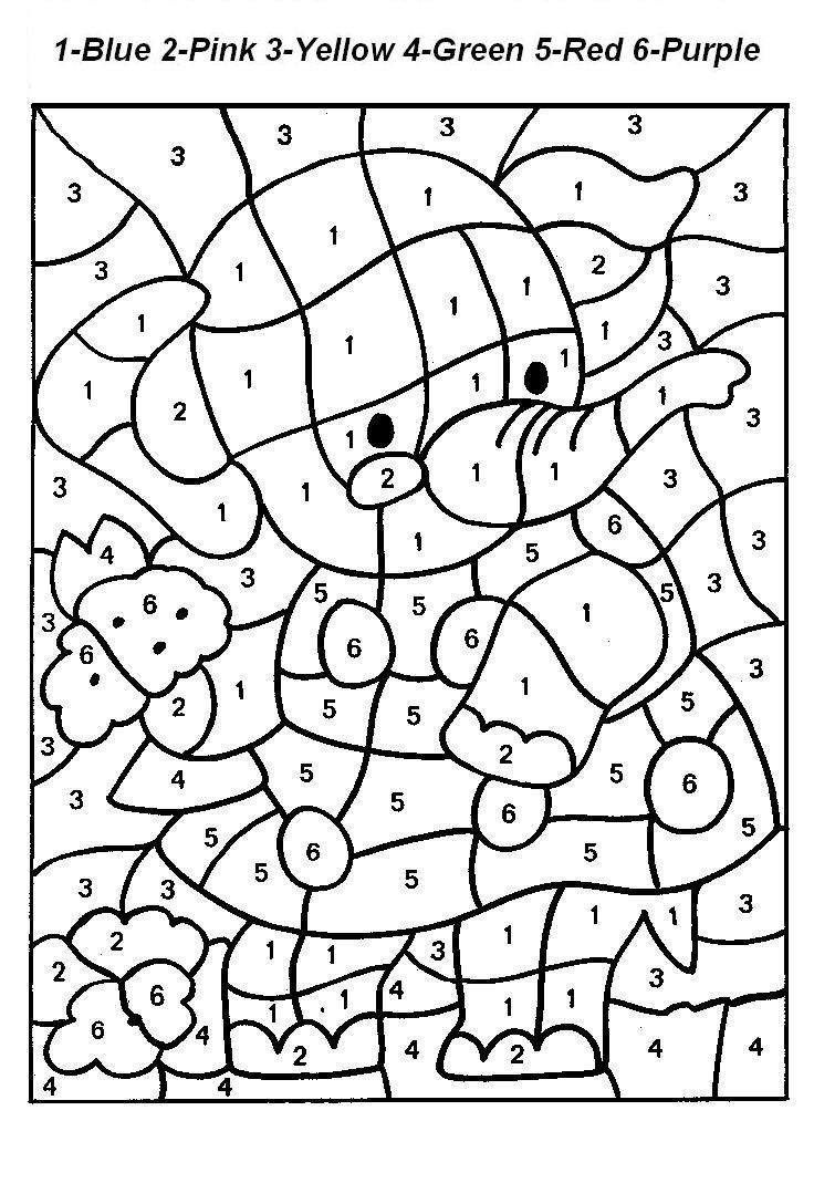 Free Printable Colornumber Coloring Pages | Colornumber - Free Printable Paint By Number Coloring Pages