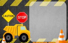 Free Printable Construction Vehicles Birthday Invitation | Party – Free Printable Construction Invitations