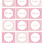Free Printable Craft Supply Labels   Craft Storage Ideas   Pink   Free Printable Crafts