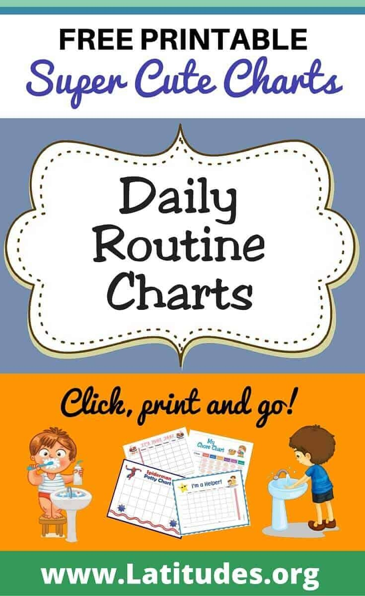 Free Printable Daily Routine Charts For Kids   Acn Latitudes - Free Printable Morning Routine Chart
