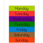 Free Printable Days Of The Week Workbook And Poster | The Resources   Free Printable Preschool Posters