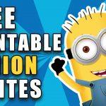 Free Printable Despicable Me Minion Birthday Invitation   Thanks A Minion Free Printable