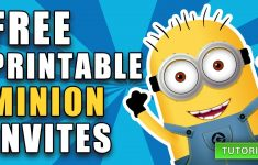 Free Printable Despicable Me Minion Birthday Invitation – Thanks A Minion Free Printable
